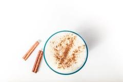 Milk and cinnamon smoothie Royalty Free Stock Photos
