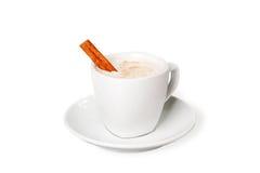 Milk with cinnamon Stock Photo