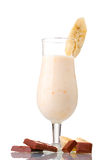 Milk cocktail with bananas and chocolate Stock Photo