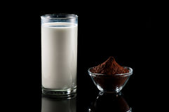 Milk and cocoa Royalty Free Stock Images