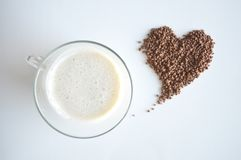 Milk and cocoa royalty free stock photo