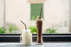 Milk and cocoa drink Royalty Free Stock Image