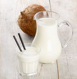 Milk and coconut Stock Images