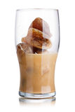 Milk coffee cocktail Stock Images
