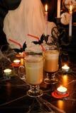 Milk Coffee Cocktail in Glass-Irish for Halloween Stock Photo
