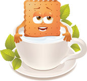 Milk and cookie stock photography
