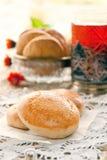 Milk cookie. Fresh homemade sweet milk cookies Royalty Free Stock Photos