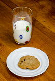 Milk and cookie Stock Images