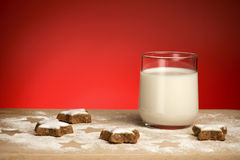 Milk and cookie Royalty Free Stock Photography