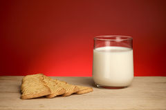 Milk and cookie Stock Photos
