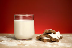 Milk and cookie Stock Photo