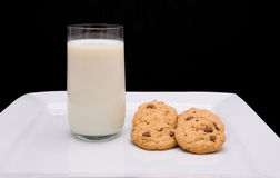 Milk and Cookies Stock Images