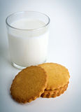 Milk with cookies Royalty Free Stock Images