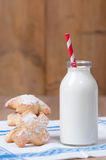 Milk & Cookies Stock Photography