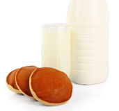 Milk and cookies Stock Image