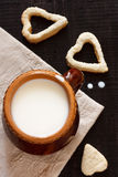 Milk and cookies. Royalty Free Stock Photos