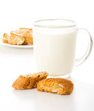 Milk with cookies Stock Images