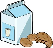 Milk & Cookies Stock Images