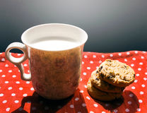 Milk and cookies for breakfast Royalty Free Stock Photos