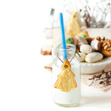 Milk and cookies. Royalty Free Stock Photo