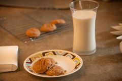 Milk and Cookies Royalty Free Stock Images