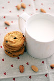 Milk and cookies Royalty Free Stock Image