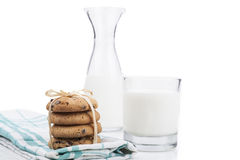 Milk and Cookies Isolated Royalty Free Stock Image