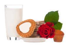 Milk with cookies Royalty Free Stock Image