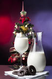 Milk and cookies for Santa Royalty Free Stock Image