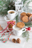 Milk and cookies for santa Royalty Free Stock Photo