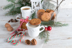 Milk and cookies for santa. A fresh and tasty milk and cookies for santa Stock Photo