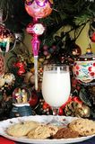 Milk and cookies for Santa. Royalty Free Stock Photo