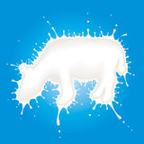 Milk cow vector illustration Royalty Free Stock Photography