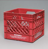 Milk crate Stock Images