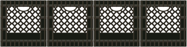 Milk Crate banner Royalty Free Stock Photo