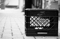 Milk crate portrait Stock Images