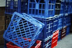 Milk Crates Royalty Free Stock Images
