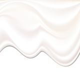 Milk Cream Wave Background. Sweet and White Melted Milk Cream Stock Photos