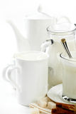 Milk in a cup Royalty Free Stock Images