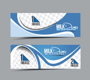Milk Dairy Banner Stock Photos