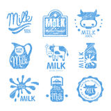 Milk and Dairy Labels. Vector Illustration Stock Image