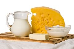 Milk dairy product composition Stock Photo
