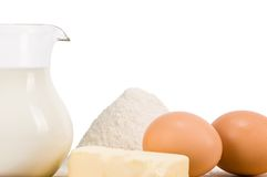 Milk dairy product composition Stock Photography