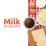 Milk and dairy products concept Royalty Free Stock Images