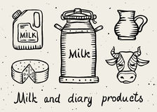 Milk and dairy products Royalty Free Stock Photography