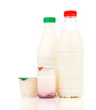 Milk, dairy products and yogurt Royalty Free Stock Images