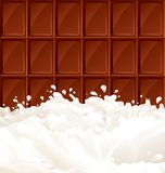 Milk and dark Chocolate. Vector abstract background with milk and chocolate Bar. There are no meshes in this image Stock Photo