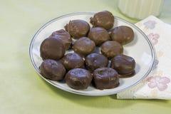 Milk and dark chocolate candy snack Stock Photo