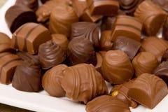 Milk and dark chocolates Royalty Free Stock Image