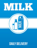 Milk delivery advertising poster. stock photo